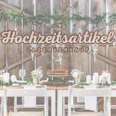 Hochzeitsartikel Lagerverkauf